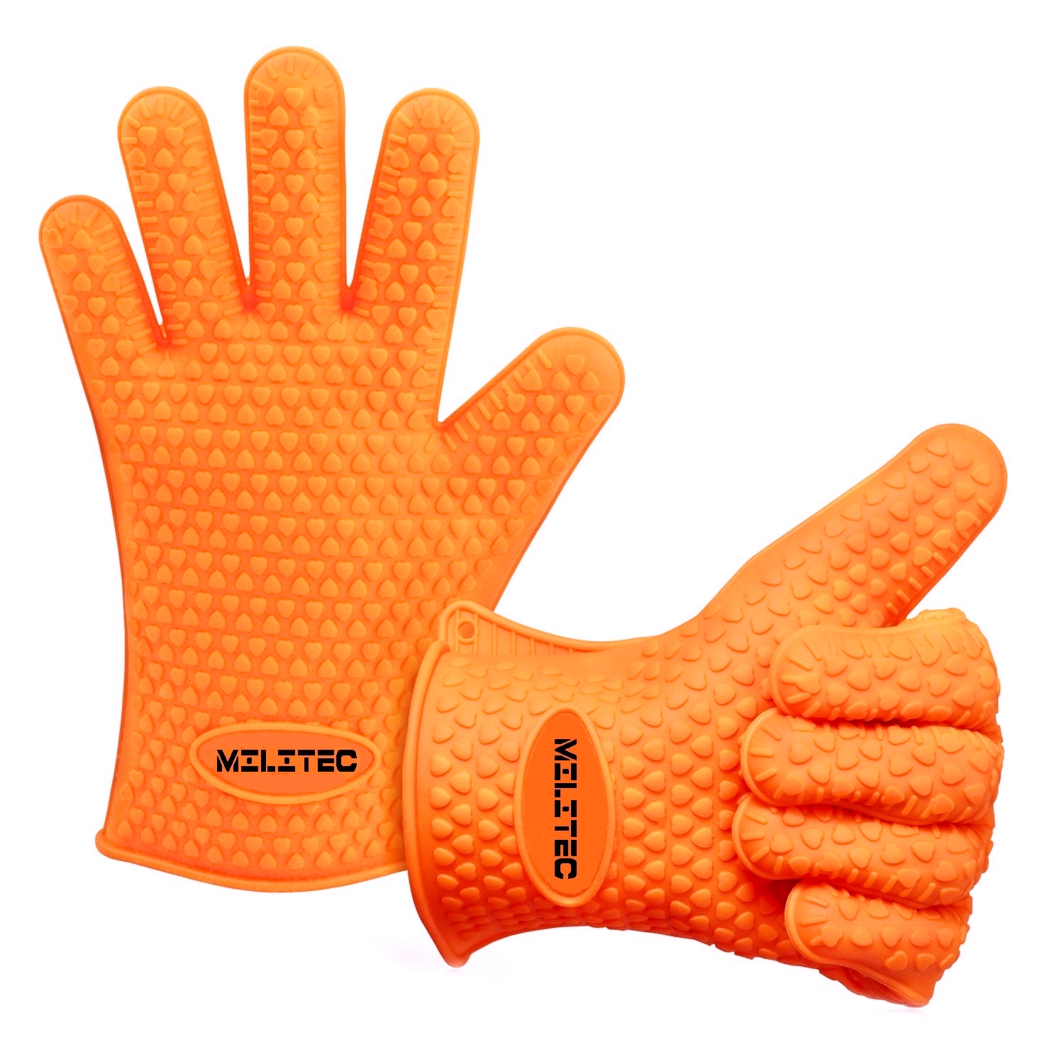 Militec Silicone BBQ Gloves Oven Mitts Heavy Duty